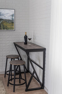 WEEKLY or MONTHLY. Space Saver Folding Sofa Bar & Backless Stools