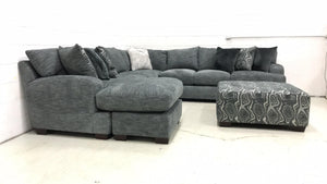 WEEKLY or MONTHLY. Handwoven Just For You Slate Sectional