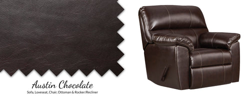 WEEKLY or MONTHLY. Austin Chocolate Rocker Recliner