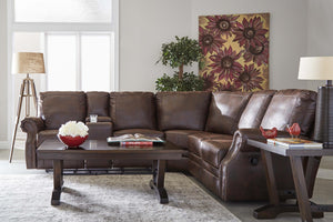 WEEKLY or MONTHLY. Canterbury Walnut  POWER Sectional