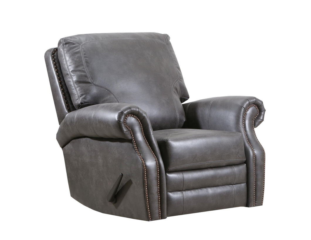 WEEKLY or MONTHLY. Badlands Grey Rocker Recliner, MANUAL