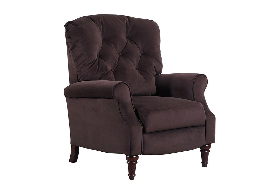 WEEKLY or MONTHLY. Abbington High Leg Recliner in Chocolate