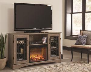 WEEKLY or MONTHLY. Jourdan Creek TV Console with Fireplace