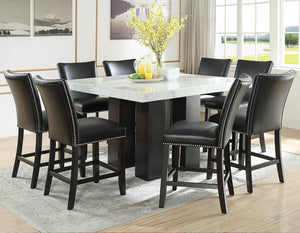 WEEKLY or MONTHLY. Darling Camila Square COUNTER Table & 4 Chairs in Blue Velvet