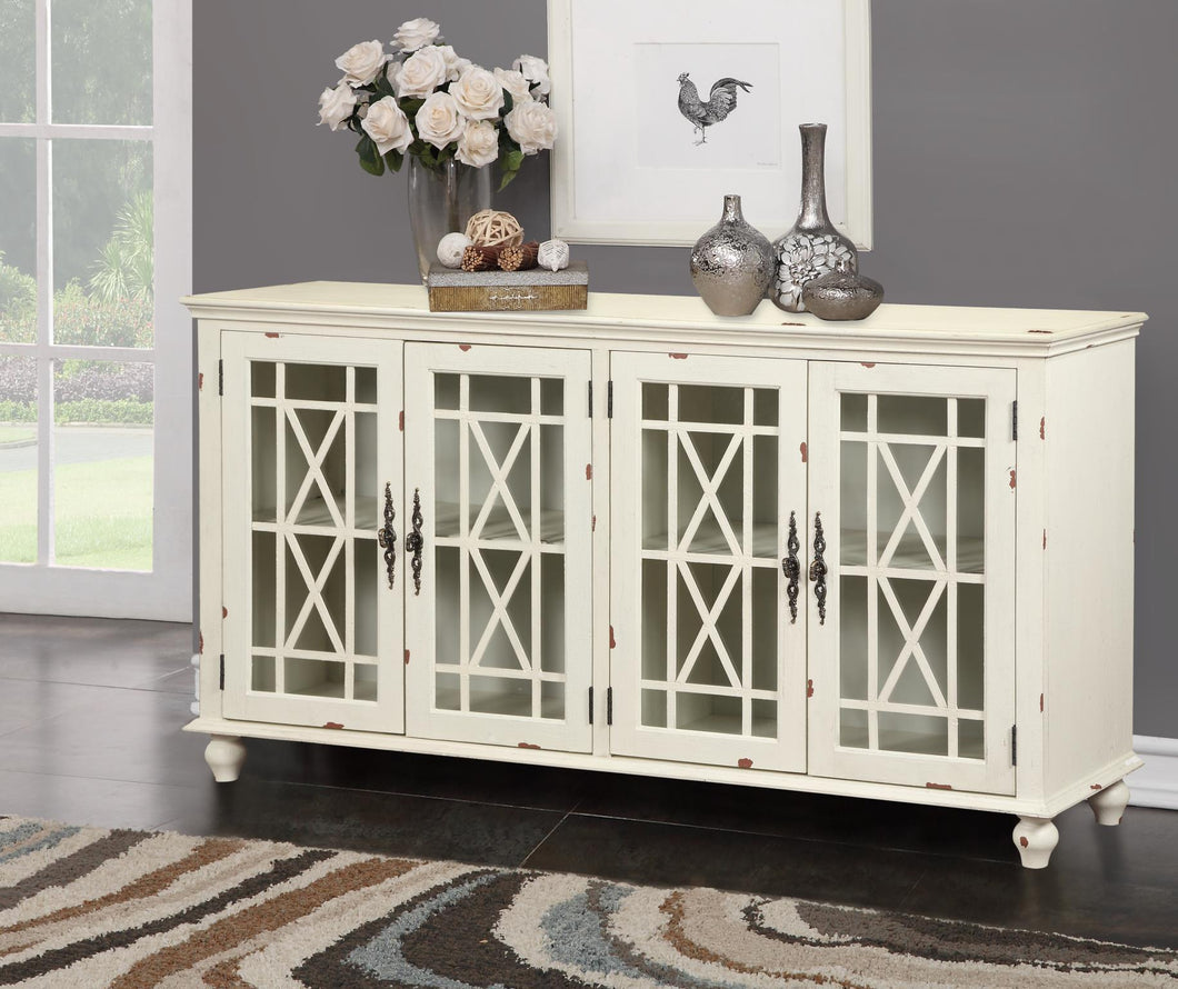 WEEKLY or MONTHLY. 4-Door Pleasant Harper Branch Accent Console