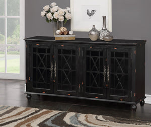 WEEKLY or MONTHLY. Rustic Midnight Harper's Accent Console