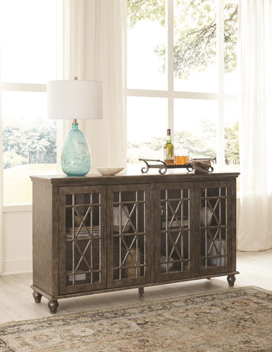 WEEKLY or MONTHLY. Antique Platinum Harper's Branch Accent Console