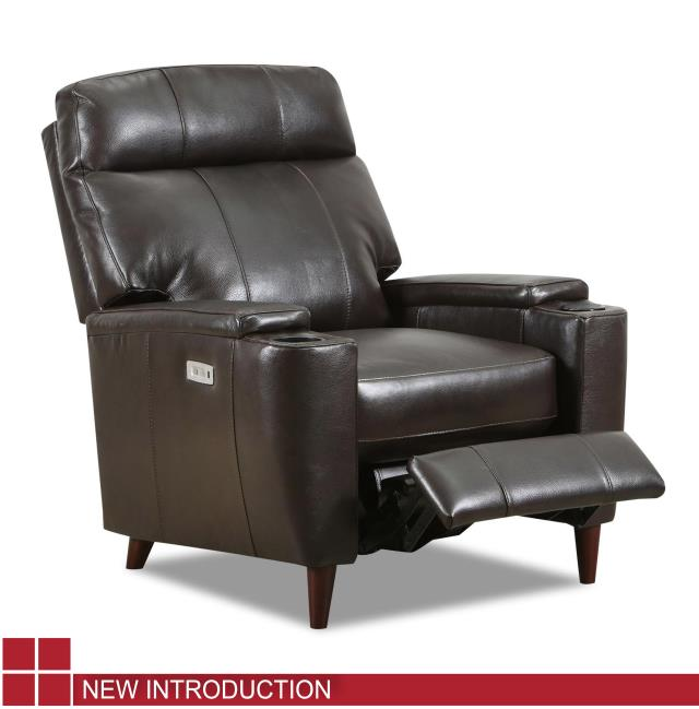 WEEKLY or MONTHLY. Genuine Leather Soft Touch Bark High Leg Power Recliner