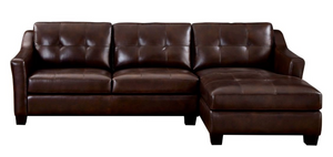 WEEKLY or MONTHLY. Nelson Leather Sectional
