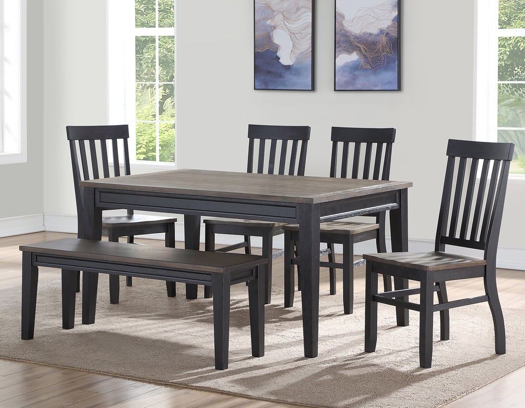 WEEKLY or MONTHLY. The Grandeur Raven Noir Dining Table & 4 Chairs & Bench