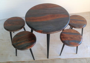 WEEKLY or MONTHLY. Mount Carmel Round Table & 4 Stools