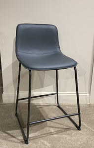 Gray Metal Barstool