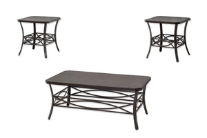 WEEKLY or MONTHLY. Infinity Cocktail Table & 2 End Tables