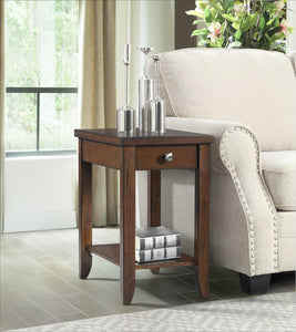Warm Brown Power Chairside Table