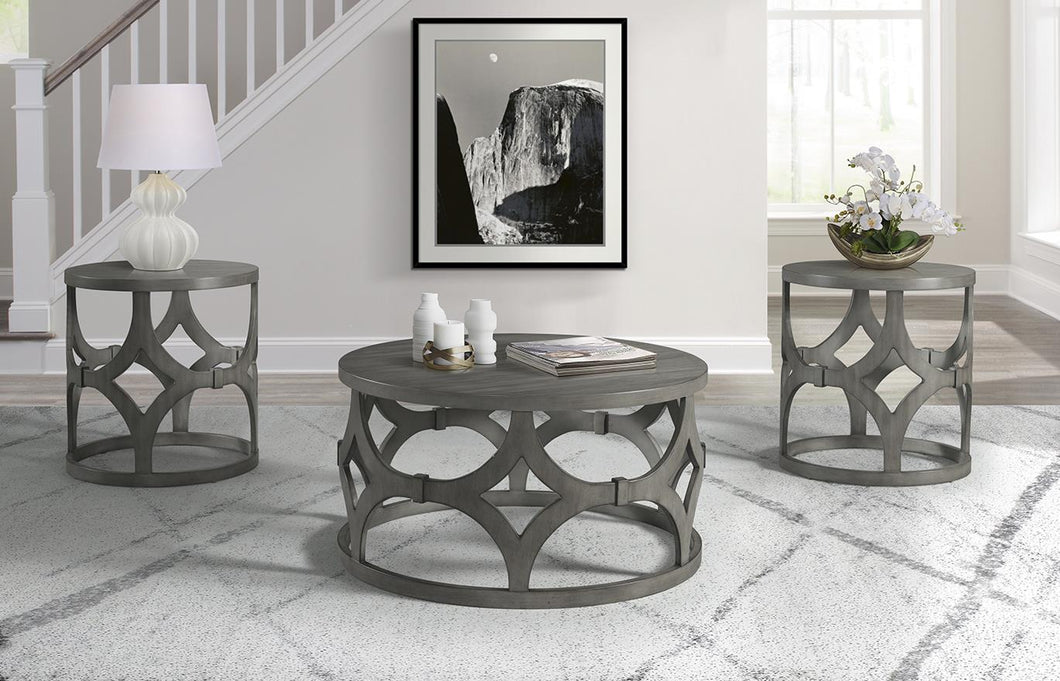 WEEKLY or MONTHLY. Geometric Cocktail Table & 2 End Tables