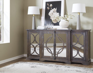 WEEKLY or MONTHLY. Opps.. It's Taupe Accent Console