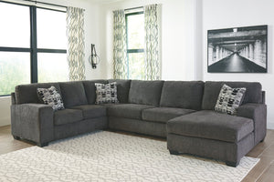 WEEKLY or MONTHLY. Ball State Platinum Reversible Chaise Sectional