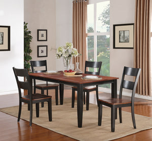 WEEKLY or MONTHLY Black and Cherry Dining Table + 4 Chairs