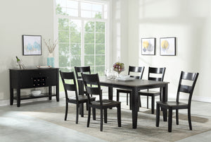 WEEKLY or MONTHLY. Merrillville Standard Height Table & 6 Side Chairs