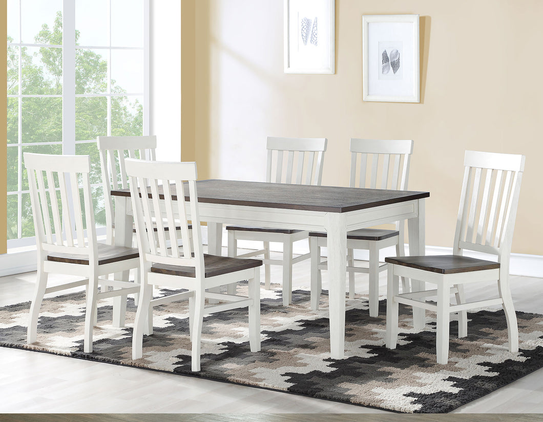 WEEKLY or MONTHLY. Caylie Farmhouse Dining Table & 6 Chairs