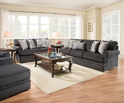 WEEKLY or MONTHLY. Bellamy Slate Couch Set