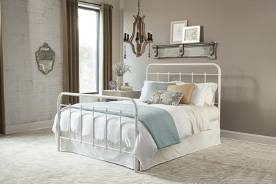 Horse Power White Metal Bed