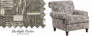 WEEKLY or MONTHLY. Starry Light Pewter Accent Chair