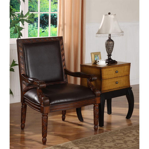 WEEKLY or MONTHLY. Classic Medium Brown Accent Chair
