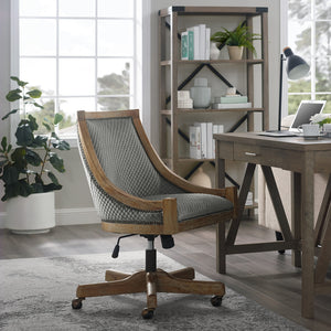 WEEKLY or MONTHLY. Caitlin Nailhead Trim Gray Home Office Chair