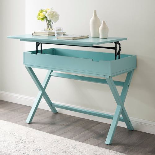 Turquoise Lift Top Desk