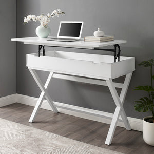 Amazing White Lift Top Desk