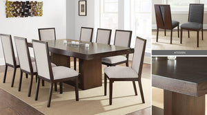 WEEKLY or MONTHLY. Anthony Dining Table & 8 Beige Side Chairs