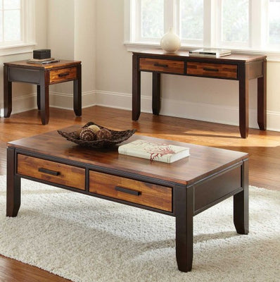 WEEKLY or MONTHLY. Abaco Cocktail Table & End Table with Drawer