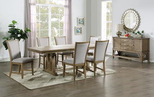 WEEKLY or MONTHLY. Abbott Trestle Dining Table & 6 Dining Chairs