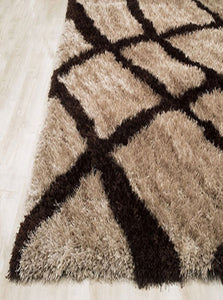Mocha Mix with Fine Lines Rug
