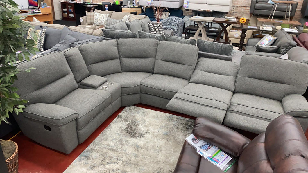 WEEKLY or MONTHLY. Albert Deep Gray Sectional