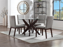 WEEKLY or MONTHLY. Amalia Grey Velvet Counter Glass Table & 4 Counter Chairs