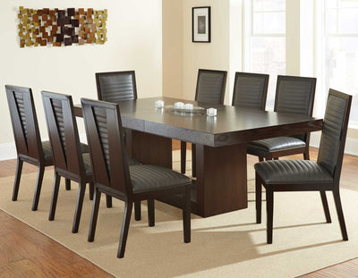 WEEKLY or MONTHLY. Anthony Dining Table & 8 Grey Side Chairs