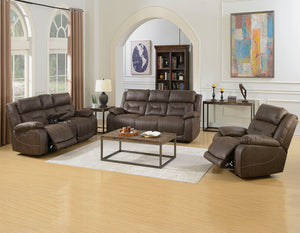 WEEKLY or MONTHLY. Ariana Saddle Brown Double POWER Couch Set