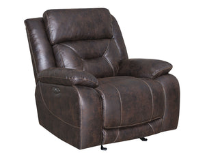 WEEKLY or MONTHLY. Ariana Saddle Brown Double Power Recliner
