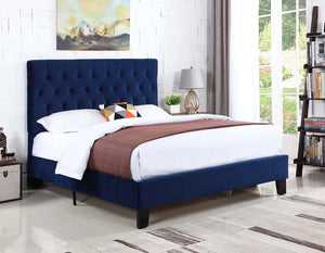 WEEKLY or MONTHLY. Navy  Blue Velvet Amelia Bed