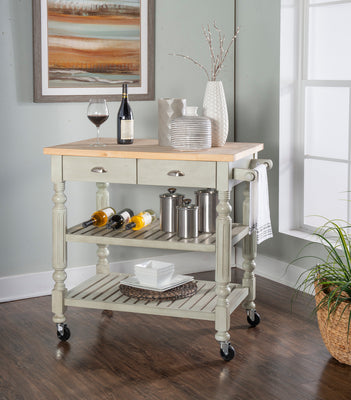 WEEKLY or MONTHLY. Barnaby Grey Kitchen Cart