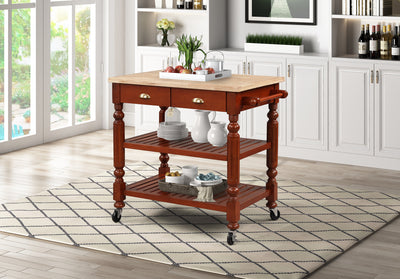 WEEKLY or MONTHLY. Barnaby Cherry Kitchen Cart