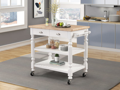 WEEKLY or MONTHLY. Barnaby White Kitchen Cart