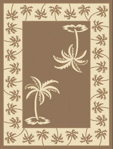 Palm Tree Islands Design Rug