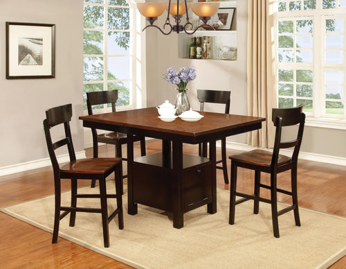 WEEKLY or MONTHLY. Black and Cherry Pub Dining Table and 4 Chairs