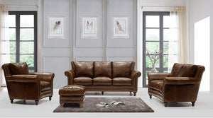 WEEKLY or MONTHLY. Chief Butler Top Grain Leather Couch Set