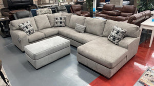 WEEKLY or MONTHLY. Ball State Platinum Chaise Sectional