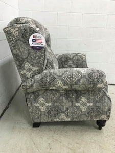 WEEKLY or MONTHLY. Bisbee High Leg Recliner in Stone