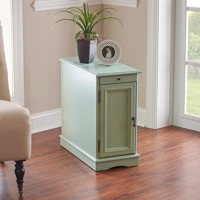 WEEKLY or MONTHLY. Butler Aqua Accent Table